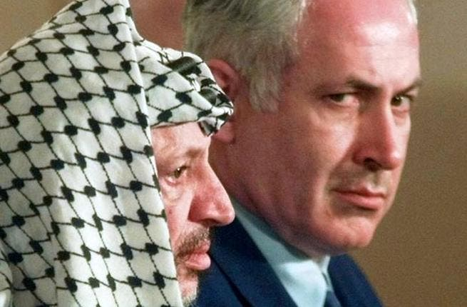 """Conservative carelessness? For all his hardline right wingedness, Netanyahu has made some 'right' boo-boos when in office. Through his meetings with Arafat, Bibi became the only Likud PM to concede """"Israeli"""" land in the West Bank to Palestine. It did decrease violence, but spurred on a spew of abuse from his Zionist supporters."""