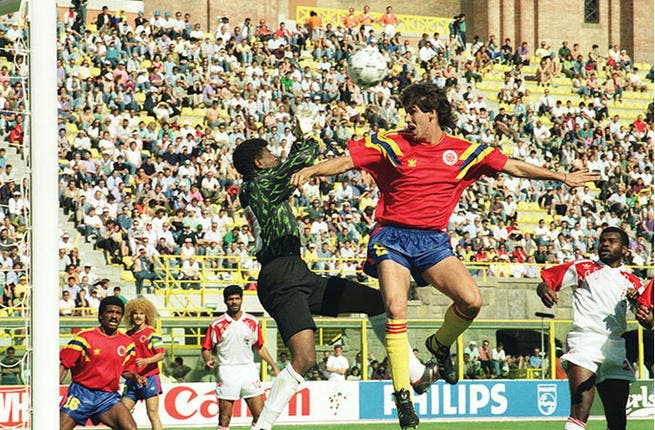 Italy 1990: Egypt returned after a 56 year absence to a low scoring group in a low scoring tournament. Egypt drew with the highly rated Dutch team and the Irish before losing to England 0-1. Not so great: UAE qualified as well. The games featuring the Emiratis were among the highest scoring affairs in the cup -- with UAE failing to sparkle