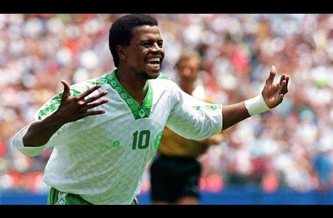 USA 1994: The Saudi forwards gushed more smoothly than one of their oil wells to progress to the second round. Saaed Al-Owairian weaved his way through what appeared to be the entire Belgian team. The Saudis beat the Moroccans to progress to the second round. However, both nerves and Swedes got the better of the valiant team in the second round.