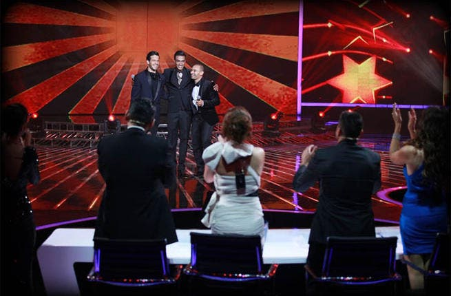 While they may not have had a chance to sip the celebratory champagne with a winning contest, Elissa and Carole Samaha still had their moment to shine when the contestants sang a compilation of the ladies' songs.