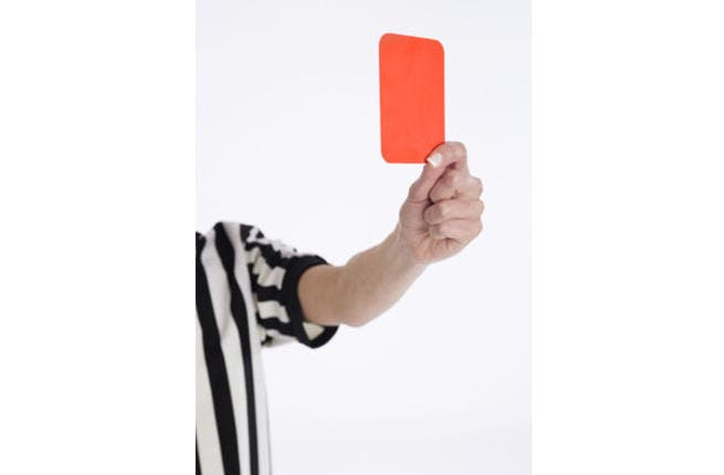 Lebanese football referees get Singapore's red card for charges of sexual favors (image used for illustrative purposes)