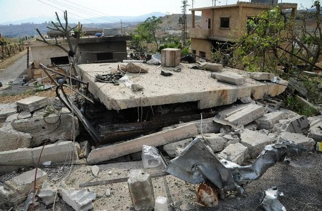 Photo allegedly shows damage after Israeli airstrikes in Damascus (AFP/SANA Handout)