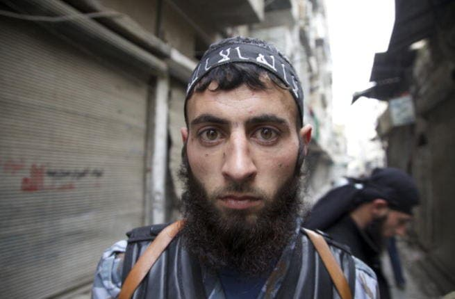 A fighter in the Islamist Jabhat al-Nusra faction (Paul Watson/Toronto Star via Getty Images)
