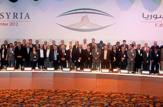 Syrian National Coalition Members November 2012 (Source: Wikimedia/SNC)