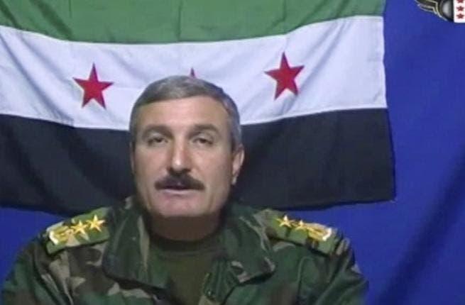 Free Syrian Army commander Riad al-Assaad (Facebook photo)
