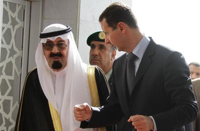 Assad and Saudi King in better days