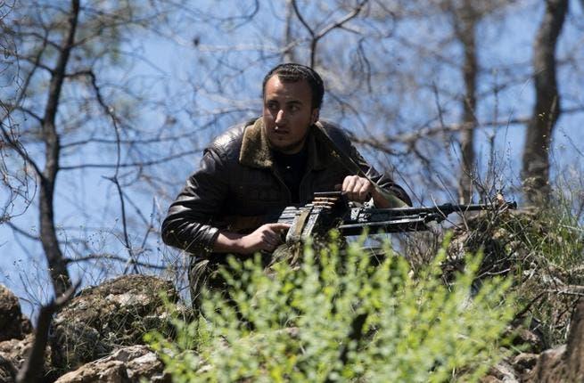 Syrian rebel fighter (AFP PHOTO/ MIGUEL MEDINA)