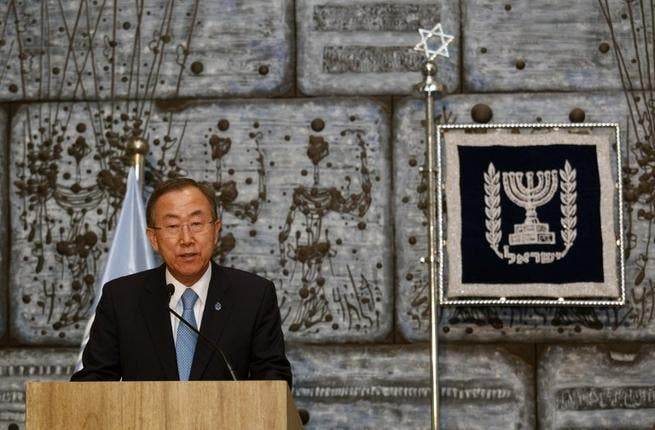 United Nations secretary general Ban Ki-Moon. AFP PHOTO/GALI TIBBON