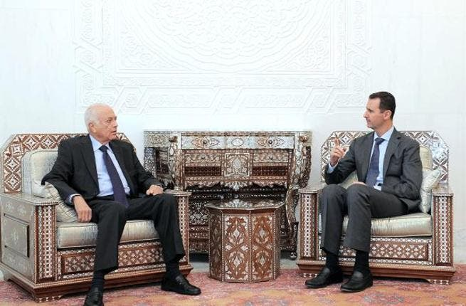 Assad with AL chief