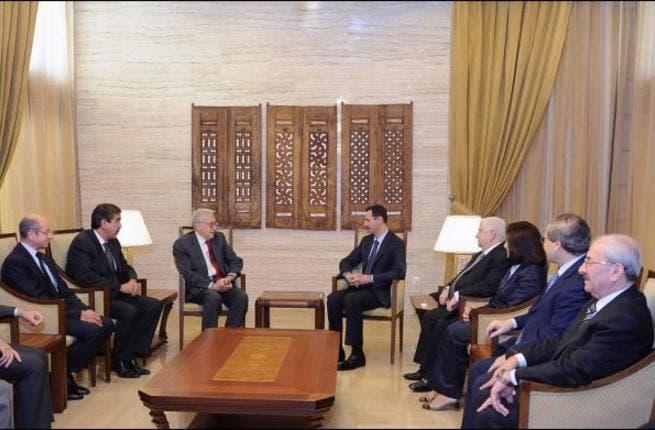 Assad meets Brahimi