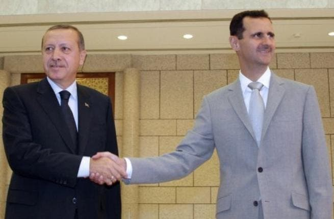 Assad and Turkish PM in past days