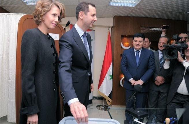 Assad voting