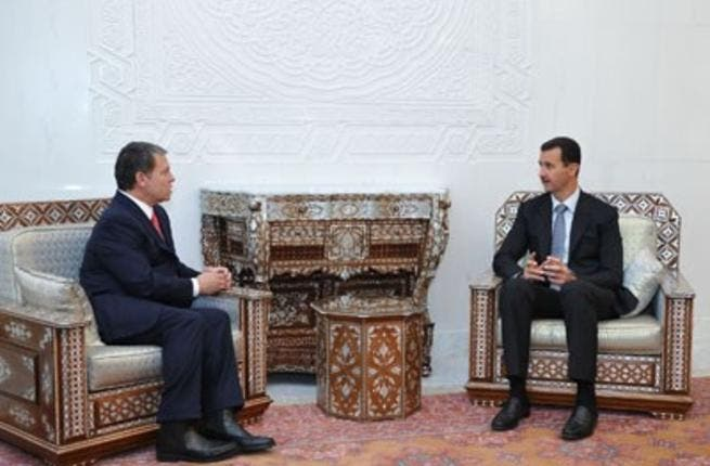 Assad hosts Jordan king