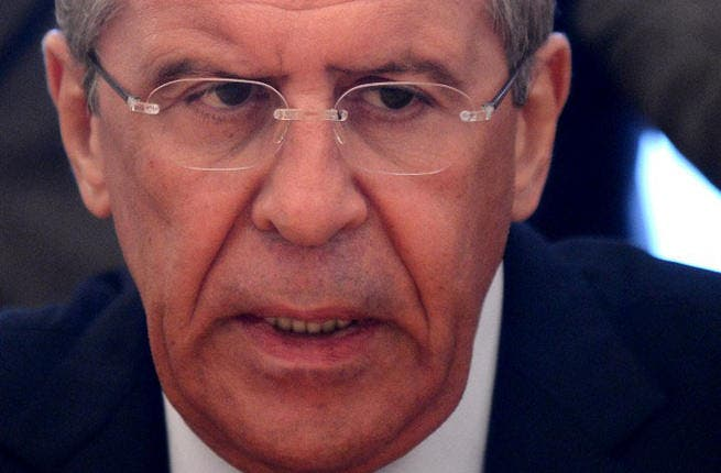 RUSSIAN FEDERATION, Moscow : Russian Foreign Minister Sergei Lavrov  AFP PHOTO/KIRILL KUDRYAVTSEV