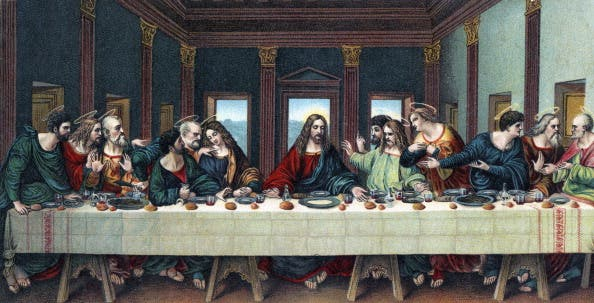 Jesus Christ and his disciples during The Last Supper. [Getty Images]