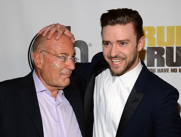 Arnon Milchan  and singer/actor Justin Timberlake [Getty Images]