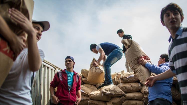 إدخال المساعدات إلى مضايا وبلدتي كفريا والفوعة بشكل متزامن
