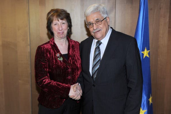 Palestinian Presidents meets with European Union Foreign Policy Chief Catherine Ashton on Thursday ahead of peace talks
