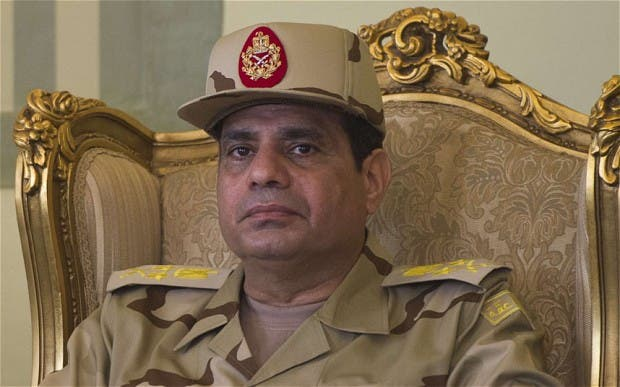 Egypt's army chief General Abdel Fattah al-Sisi. [AFP]