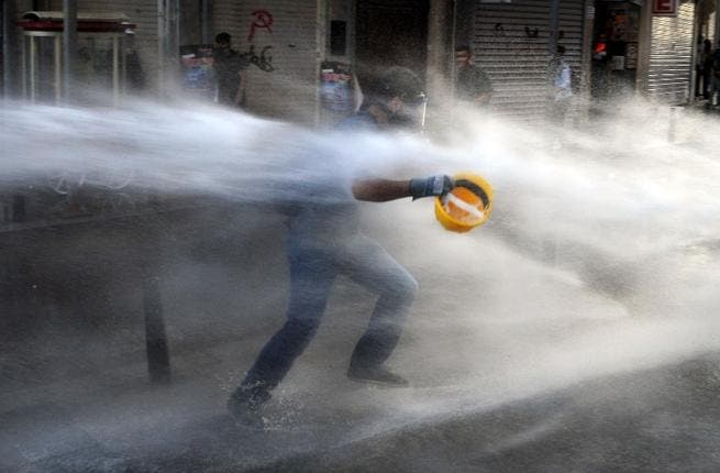 Demonstrators have clashed with police in Turkey, where protests have been reignited (Photo credit: AFP)