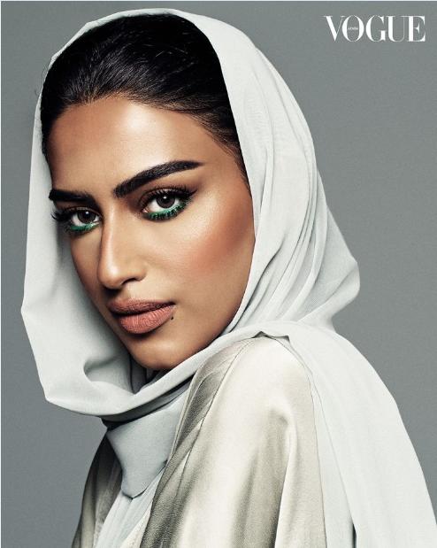 """ريم السويدي و عبير سنيدر و يارا النملة..جميلات السعودية يتصدرن غلاف مجلة  """"فوغ- Vogue"""" Vouge-Arabic00"""