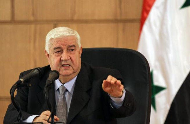 Syrian foreign minister, Walid Muallem