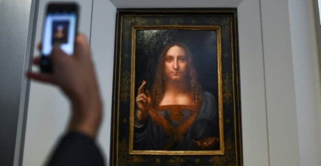 The painting was the most expensive painting ever sold at auction (AFP/File)