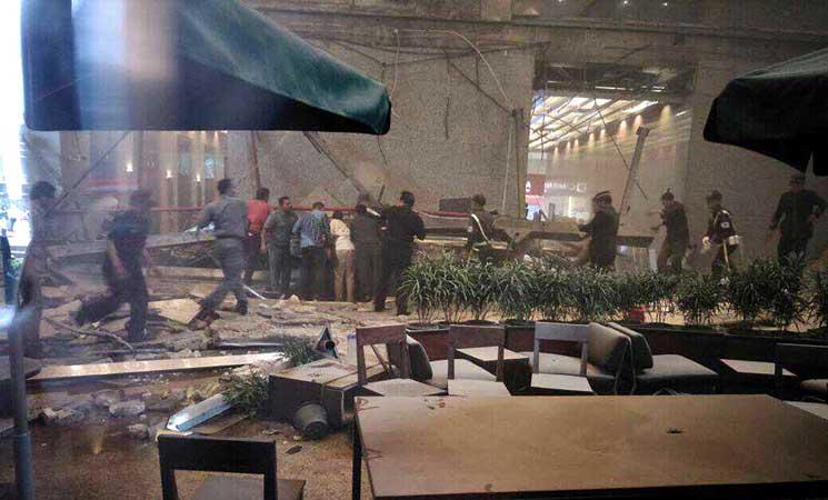 إنهيار الطابق الثاني في بورصة إندونيسيا وإصابة نحو 10 أشخاص