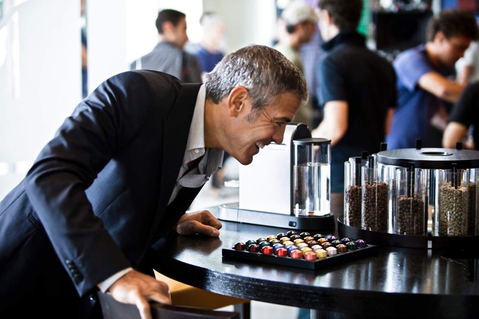 george clooney coffee machine
