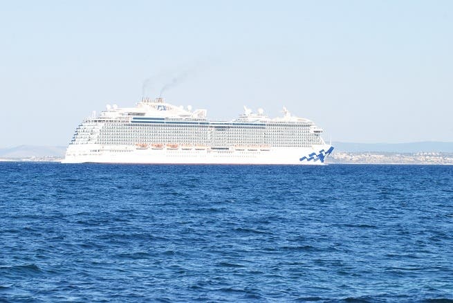 Its Cruise Season Cruise Ship Docks At Doha Port With - Cruise ship topless