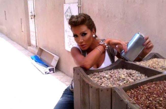Maya Diab selling peanuts