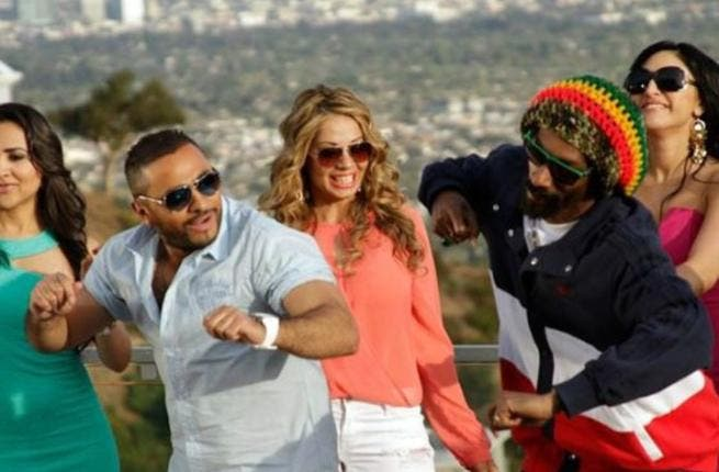 Behind the scenes of Tamer and Snoop Dog's clip
