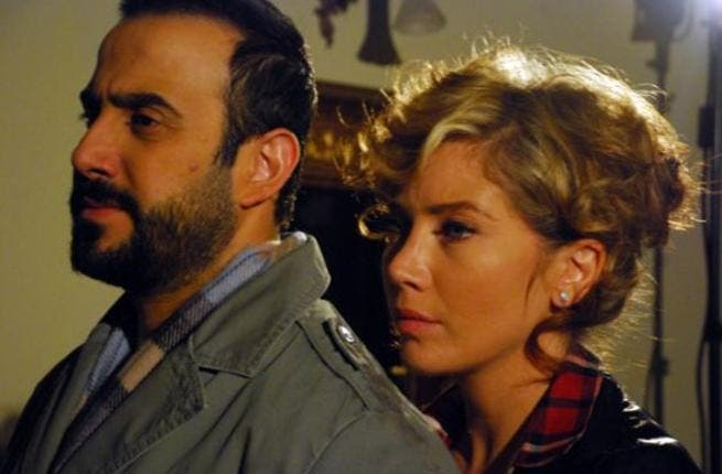 scene of Qusay Khouly and Sulafa Mimar in drama