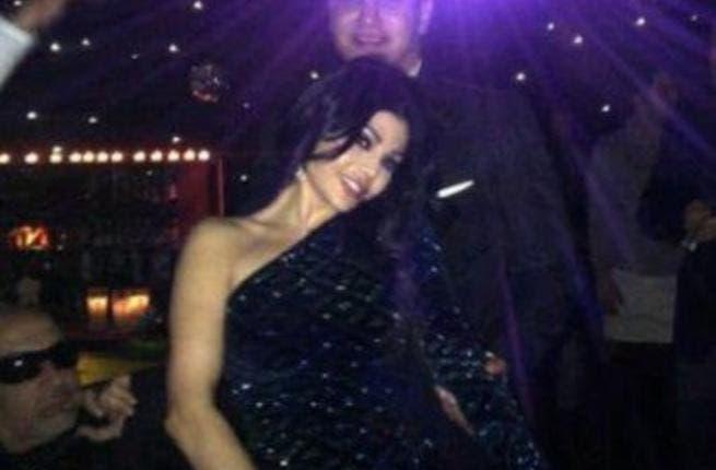 Haifa with husband during birthday party
