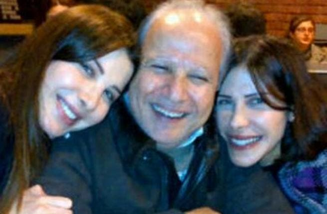 Nancy with her father and sister Nadine