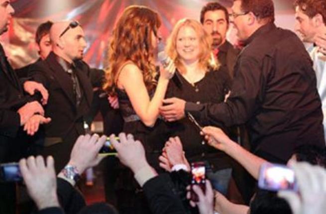 Nancy Ajram during Iraq concert