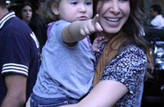 Nancy Ajram with daughter Mila