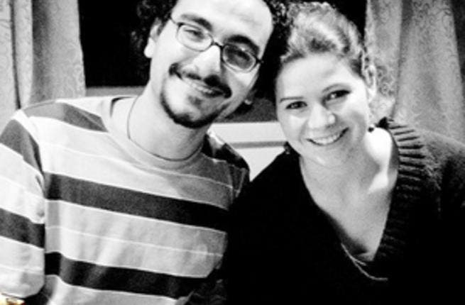 Yusra Al Lawzi and her husband