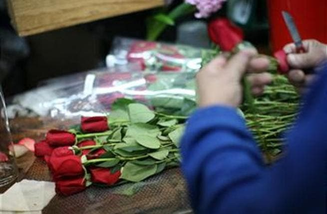 A Bahraini couple decided to celebrate Valentine's Day last weekend due to uncertainty about the situation tomorrow