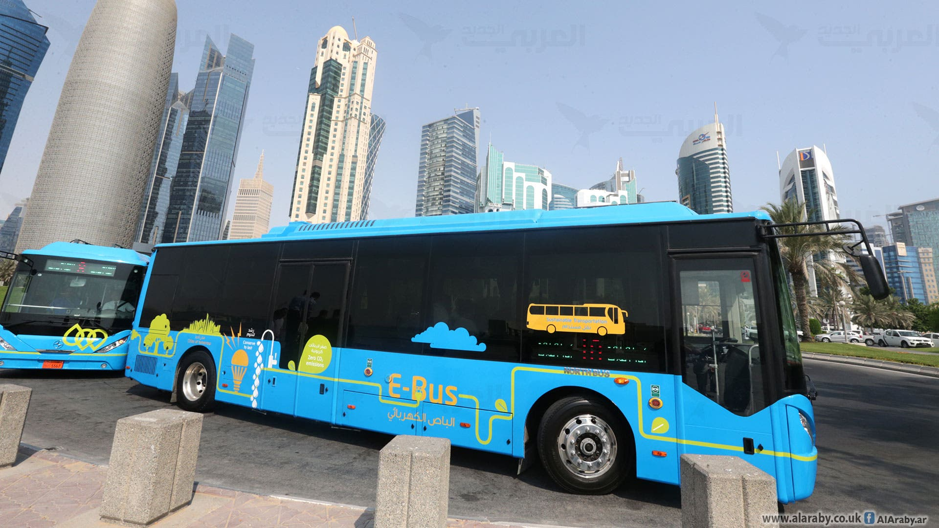 قطر تبدأ تجربة تشغيل الحافلات الكهربائية