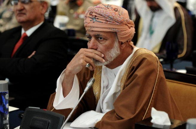 Omani Foreign Minister Yussef bin Alawi bin Abdullah attends the 9th International Institute for Strategic Studies (IISS) Regional Security Summit in the Bahraini capital Manama on December 7, 2013. [AFP]