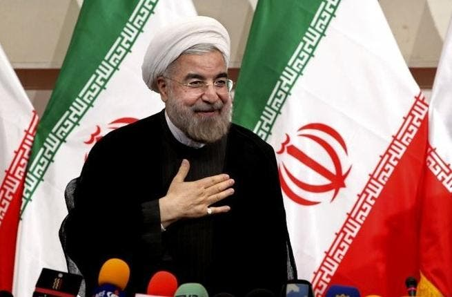 Iran's president Hassan Rouhani at a press conference, in Tehran in early 2013. [timesofisrael]