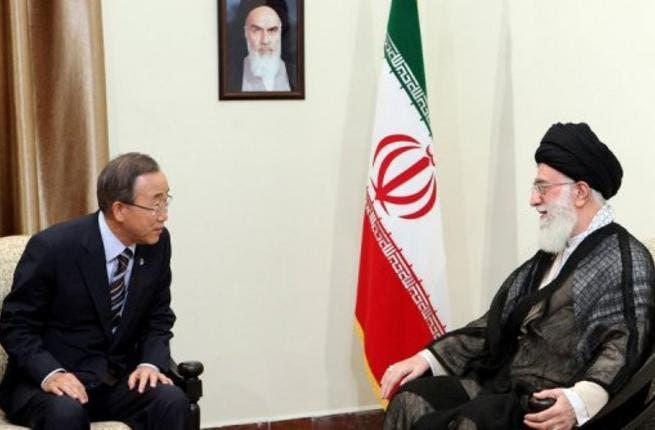Iran leader and Ban Ki-moon