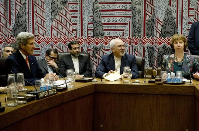 US Secretary of State John Kerry and his Iranian counterpart Mohammad Javad Zarif have held historic talks at the UN on Thursday (Image Credit: AFP)