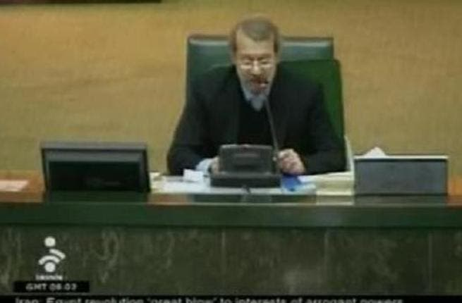 Iranian speaker of Parliamnet Larijani