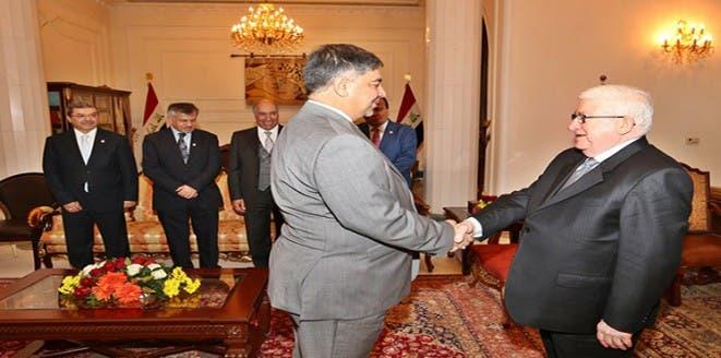 الرئيس العراقي والسفير الجديد في تركيا