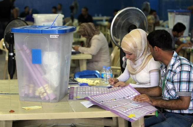 Iraqi Prime Minister Nouri al-Maliki's coalition came top in provincial elections held two weeks ago, according to results released on Saturday. (AFP PHOTO/AHMAD AL-RUBAYE)
