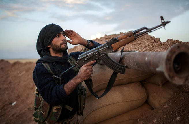A fighter in Iraq. Violence in Iraq has seen levels not seen since 2008.(Image credit: AFP)
