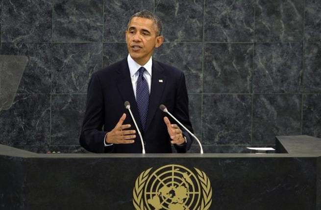 President Obama has said at the UN General Assembly that he is encouraged by Iranian President Rouhani's moderate overtures. (Image credit: AFP)