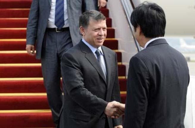 King Abdullah arrives in China. [xinhuanet.com]